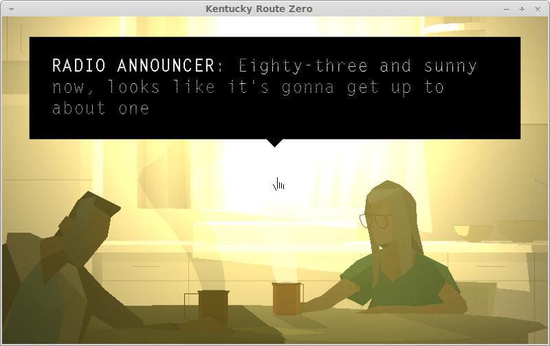 Kentucky Route Zero Act III - coffee with Lysette