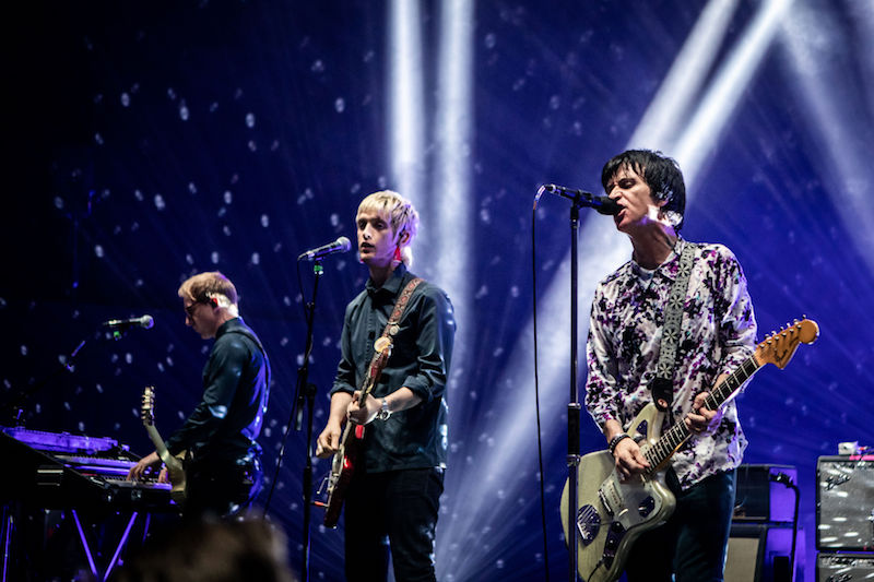 Nile Marr (centre) and Johnny Marr at the Royal Festival Hall