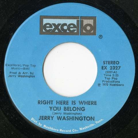 ave Godin's Deep Soul Treasures Volume 5_Jerry Washington Right Here Is Where You Belong