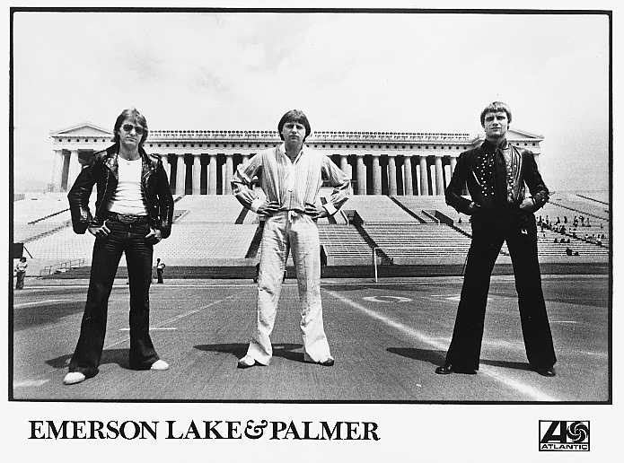 EMERSON, LAKE AND PALMER WORKS PR PHOTO