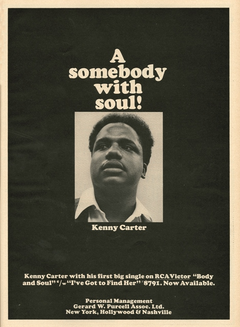Kenny Carter - Showdown The Complete 1966 RCA Recordings_cashbox ad