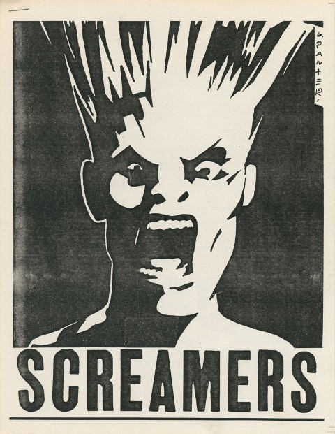 Gary Panter's poster for LA band The Screamers, 1977