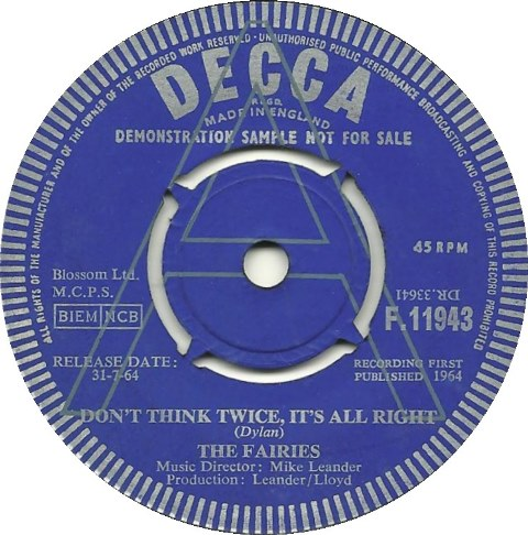 Take What You Need UK Covers Of Bob Dylan Songs 1964-69 The Fairies Don't Think Twice it's Alright