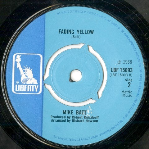 The English Baroque Sound 1968-1974_mike batt_fading yellow