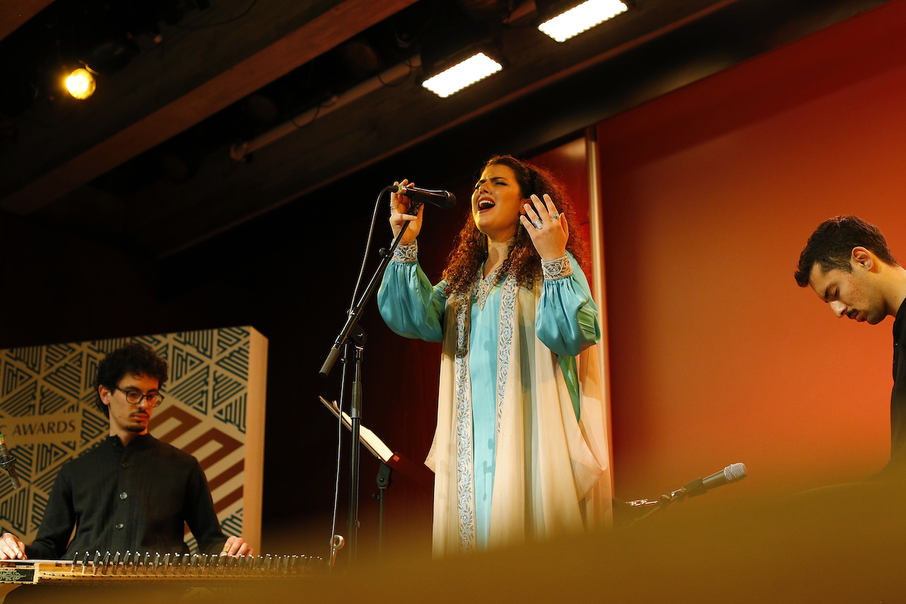 Nai Barghouti, singer and flute player fro Palestine
