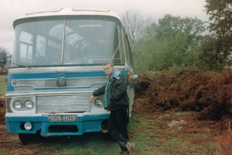 Mark Hawkins with bus