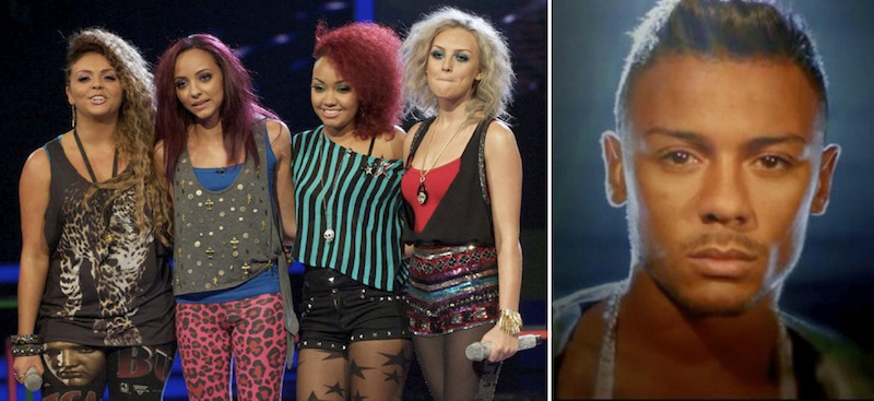 X factor finalists Little Mix, Marcus Collins