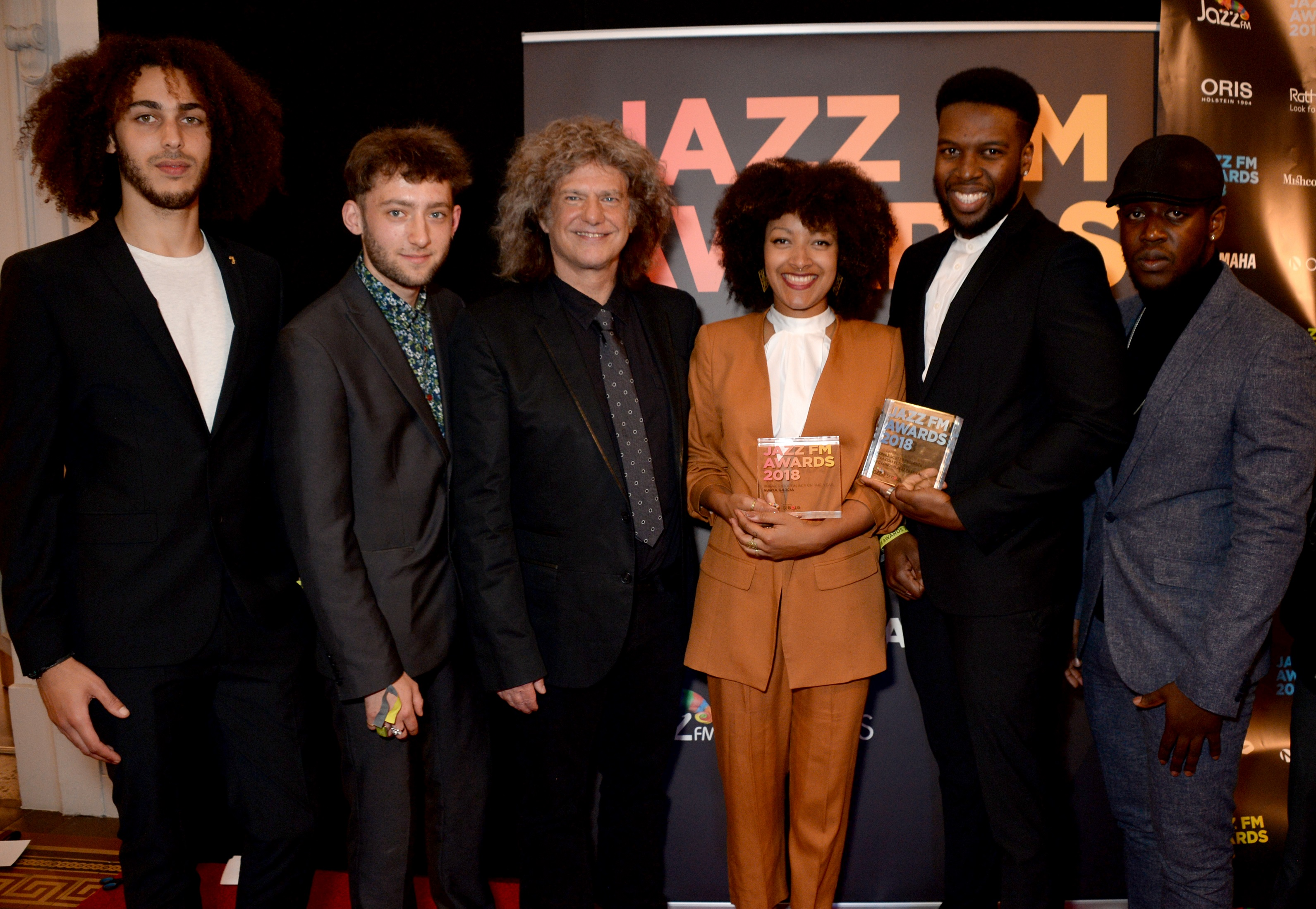 Nubya Garcia, Pat Metheny and members of Ezra Collective