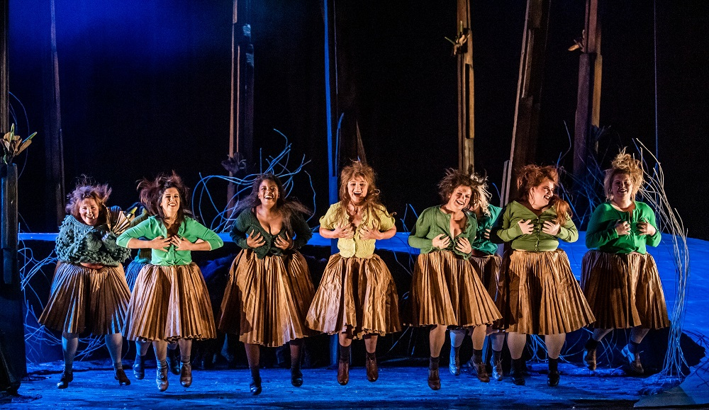 Wood nymphs in Act One of Glyndebourne's Rusalka