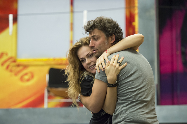 Kristine Opolais and Jonas Kaufmann in rehearsal by Bill Cooper