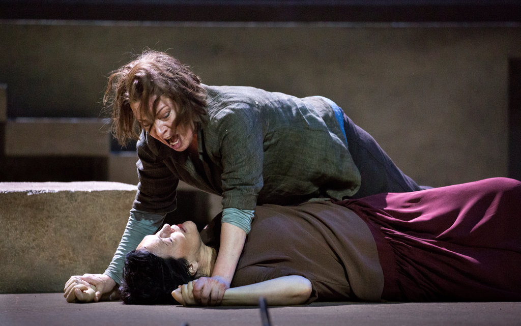 Nina Stemme and Adrianne Pieczonka in Elektra