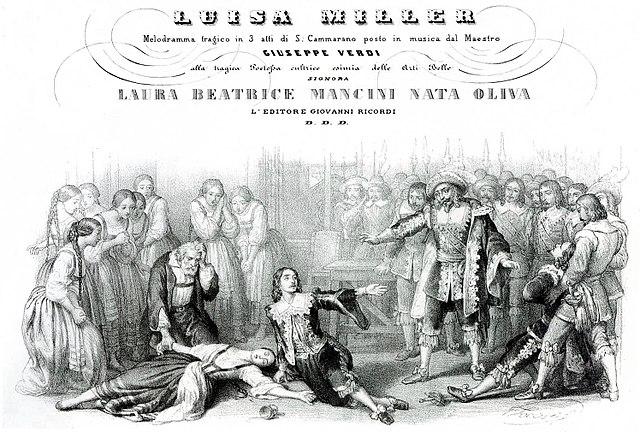 Luisa Miller original score cover