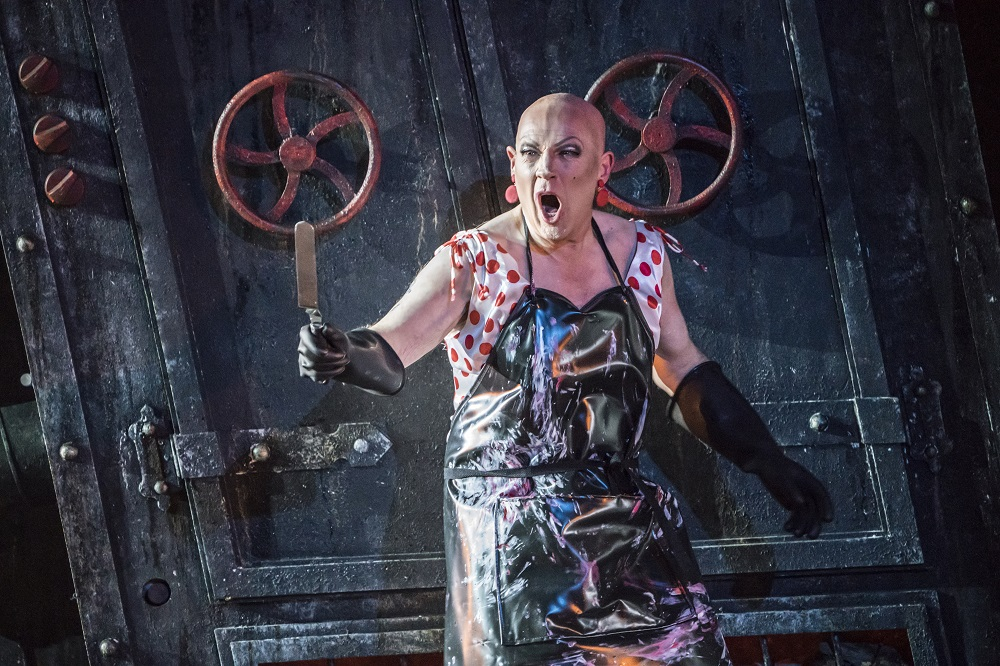 Alasdair Elliott as the Witch in Hansel and Gretel