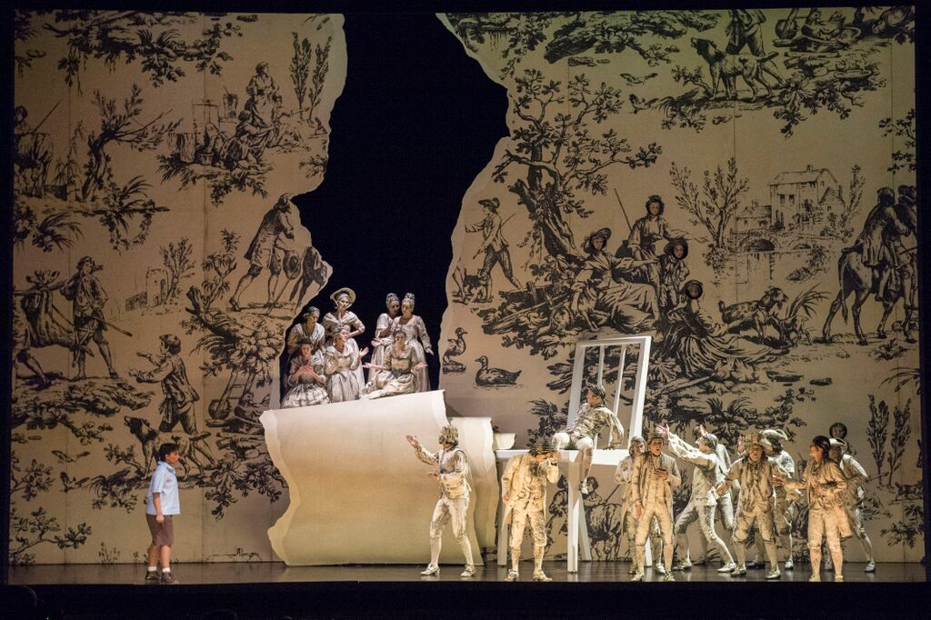 Scene from L'enfant et les sortileges at Glyndebourne