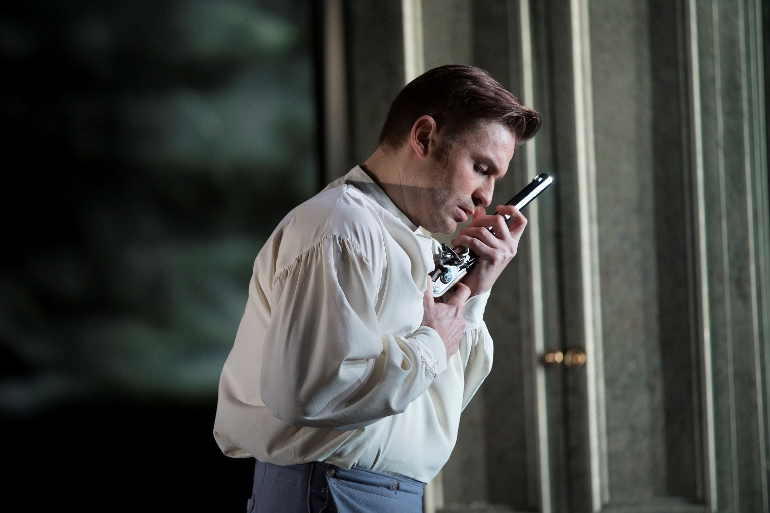 Pavol Breslik as Lensky in the Royal Opera production of Eugene Onegin