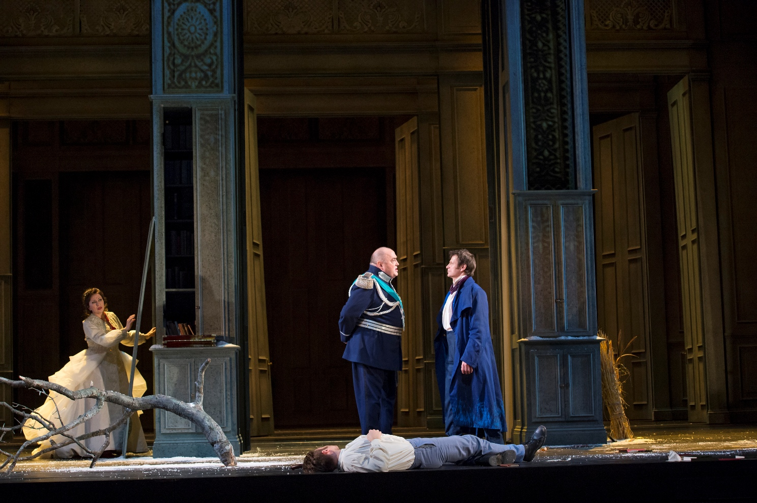 Scene from the final scene of the Royal Opera Eugene Onegin