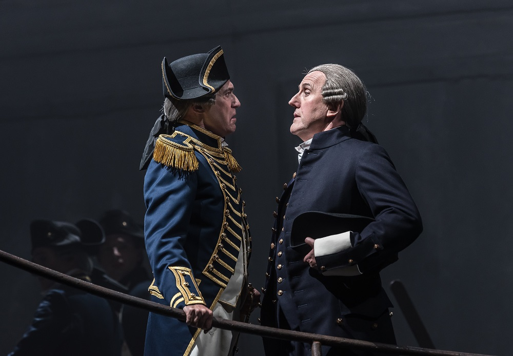 Alan Oke and Alastair Miles in Opera North Billy Budd