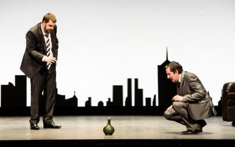 Ben McAteer and Nicholas Sharratt in The Devil inside