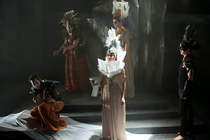 Judgment scene in ETO production of Tippett's King Priam