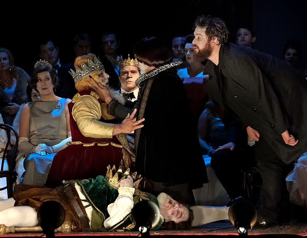 Players scene from Brett Dean's Hamlet