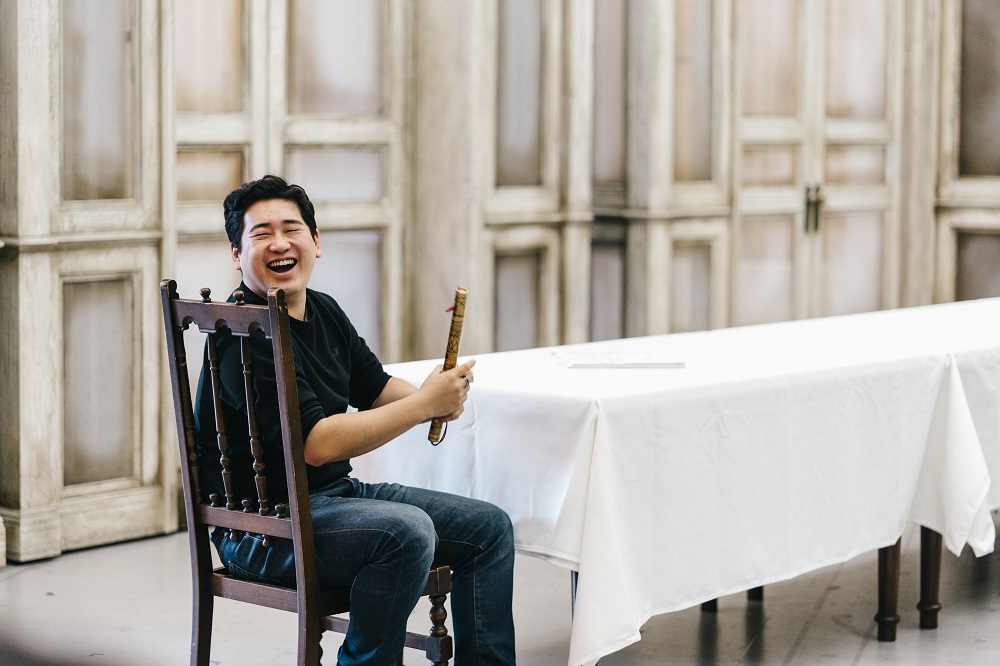 Kang Wang in rehearsal for Opera North's The Magic Flute