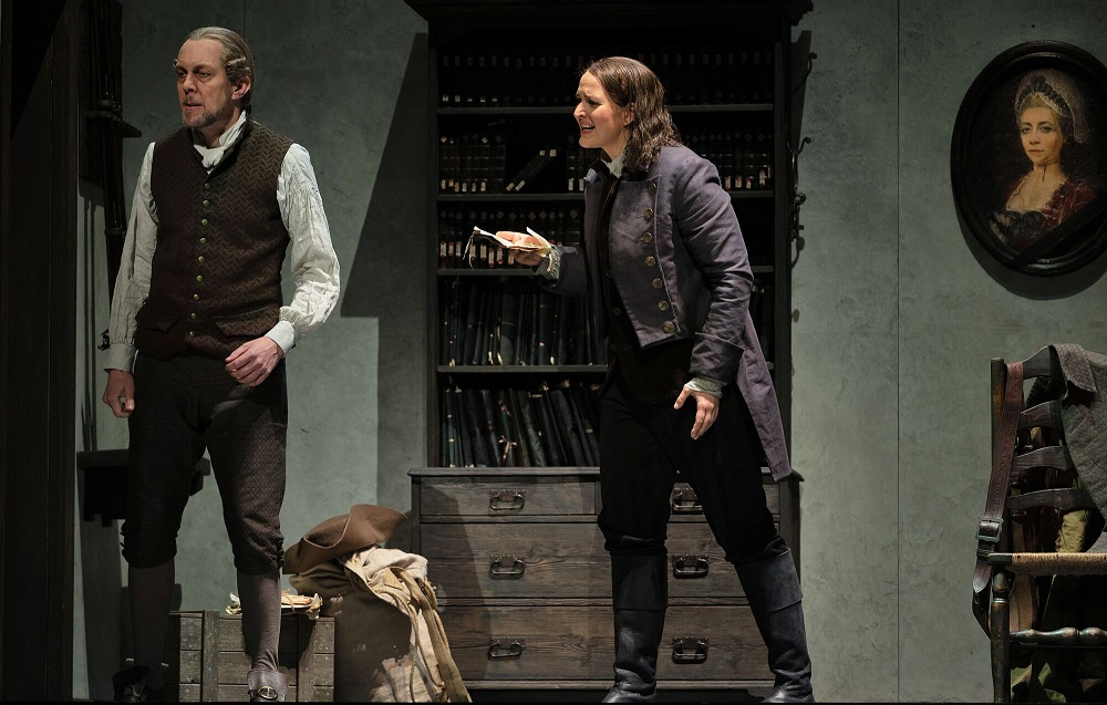 Georg Zeppenfeld and Lise Davidsen in Royal Opera Fidelio