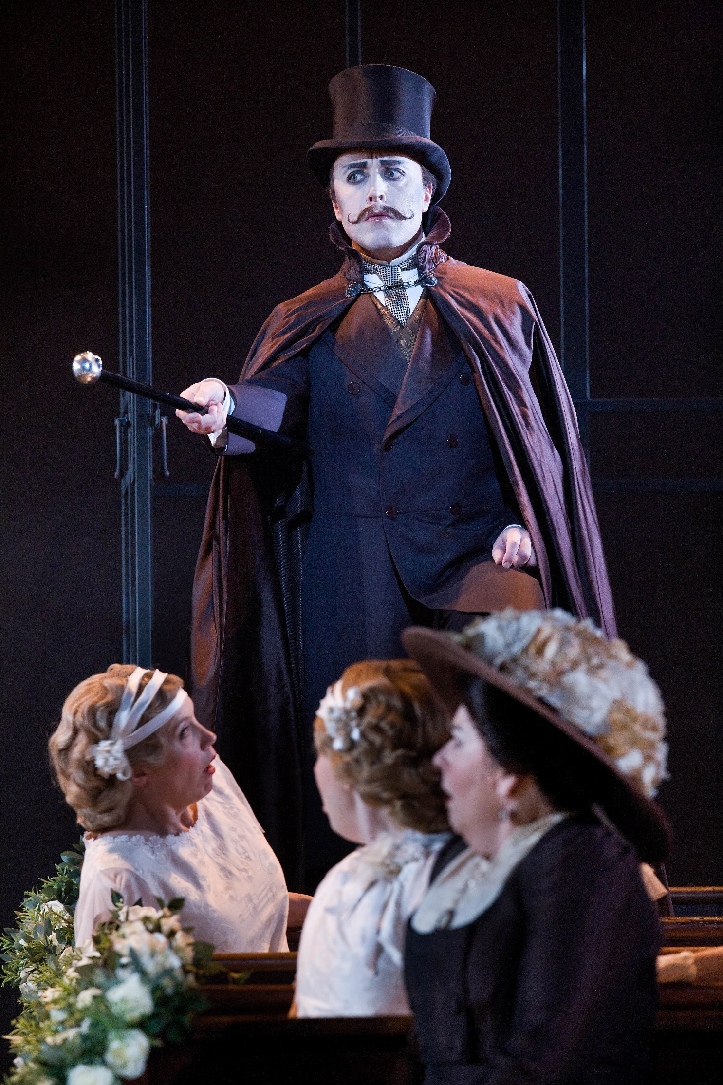 Richard Burkhard as Sir Despard Murgatroyd in Opera North's Ruddigore