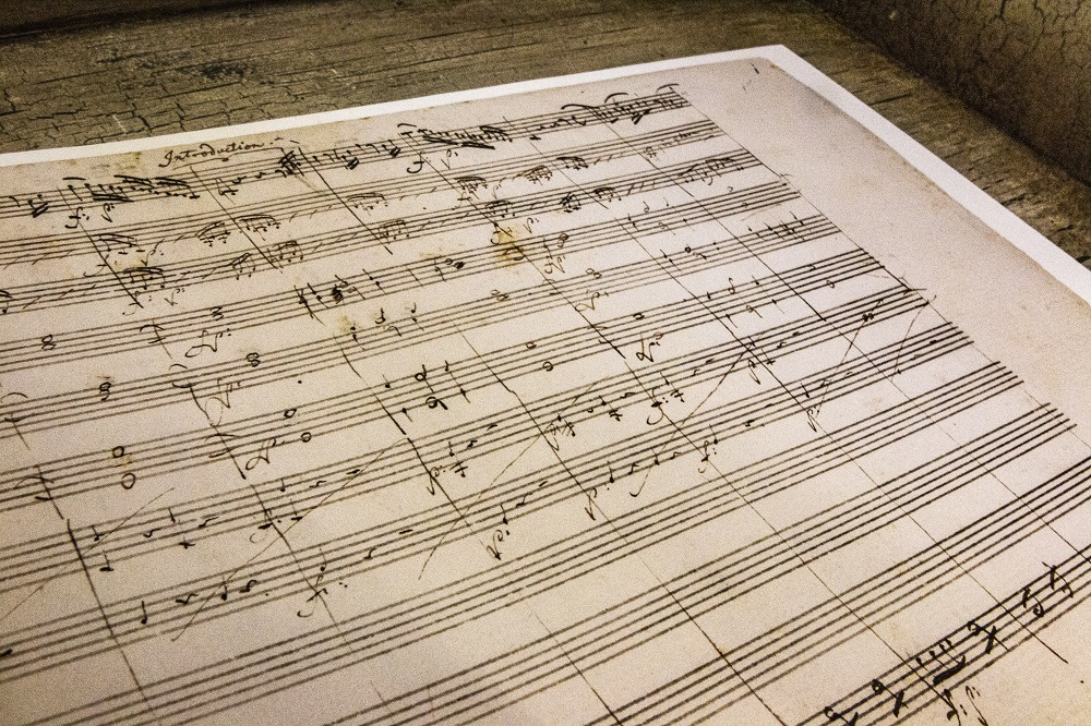 Facsimile of Mozart manuscript for The Magic Flute