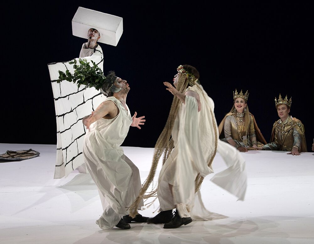Pyramus and Thisbe scene from A Midsummer Night's Dream at ENO