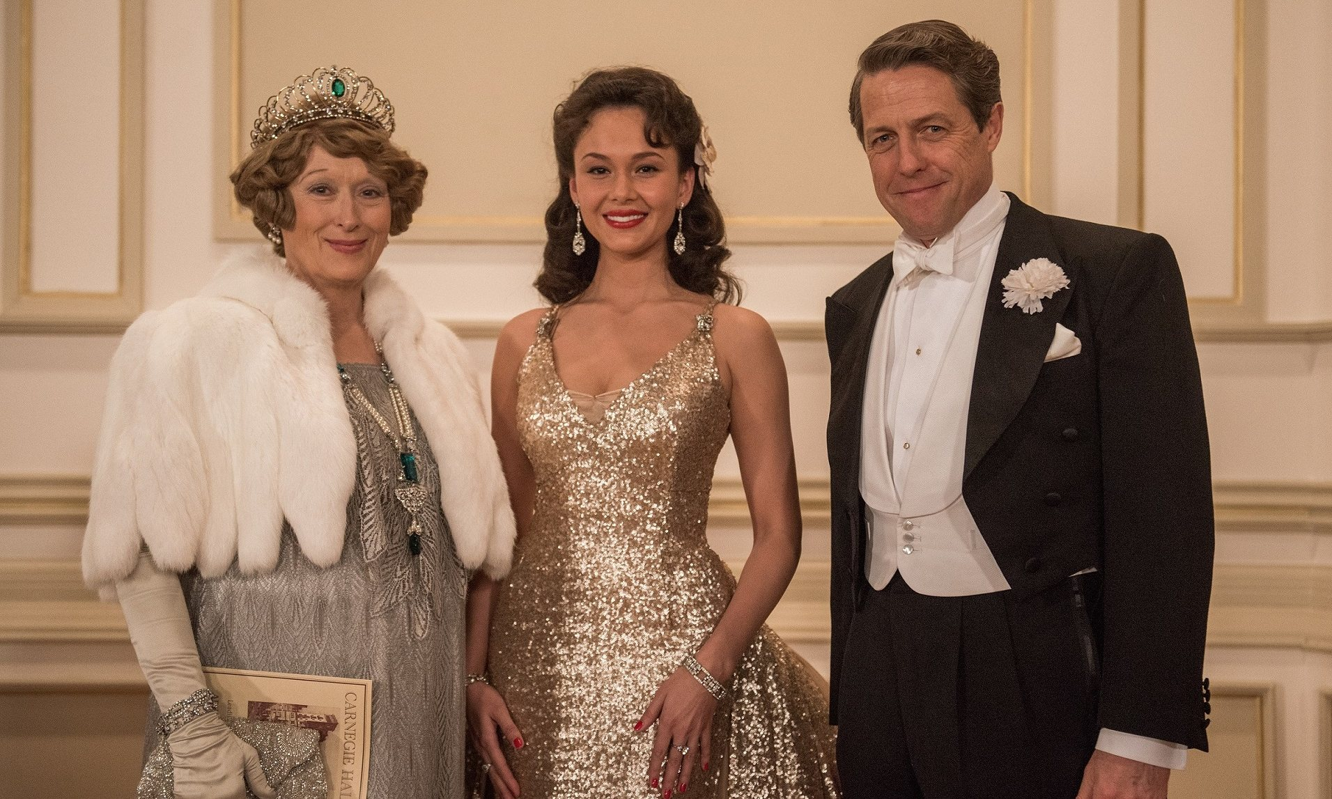 Streep, Garifullina and Grant in Florence Foster Jenkins