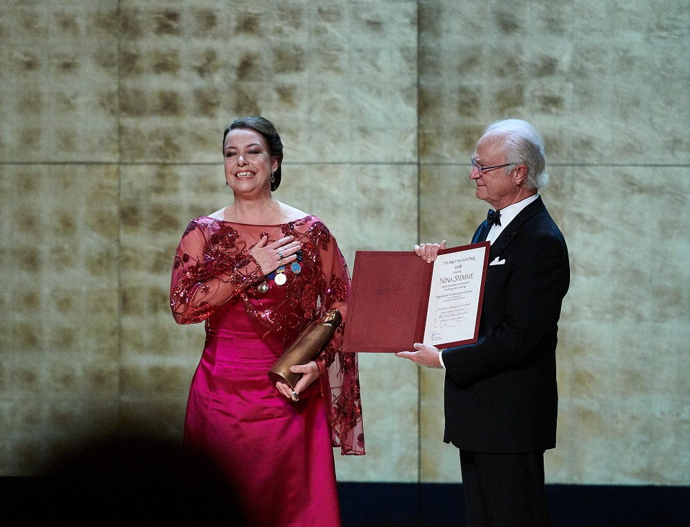 Nina Stemme and the King of Sweden