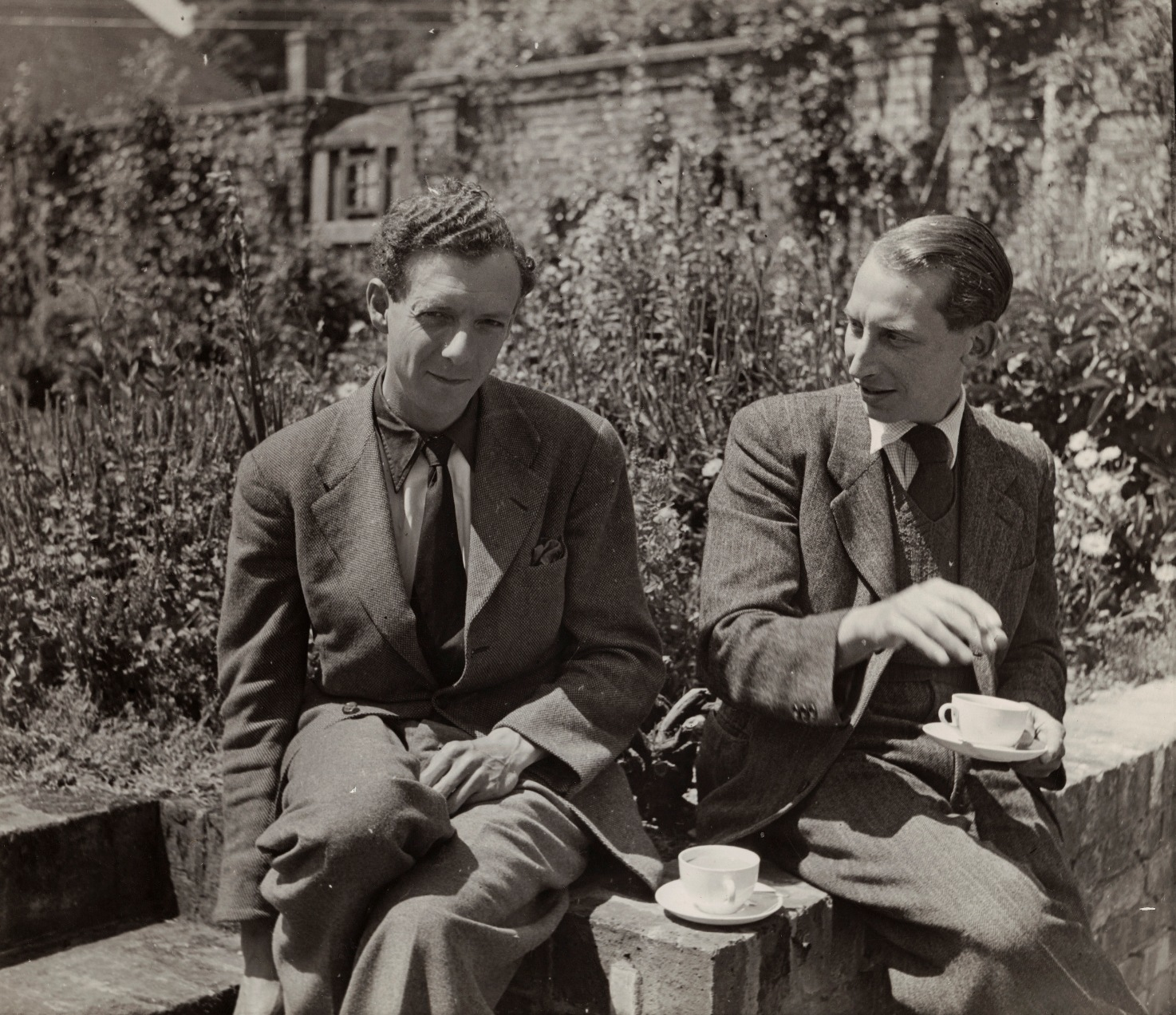 Britten and Crozier at Glyndebourne, c National Portrait Gallery