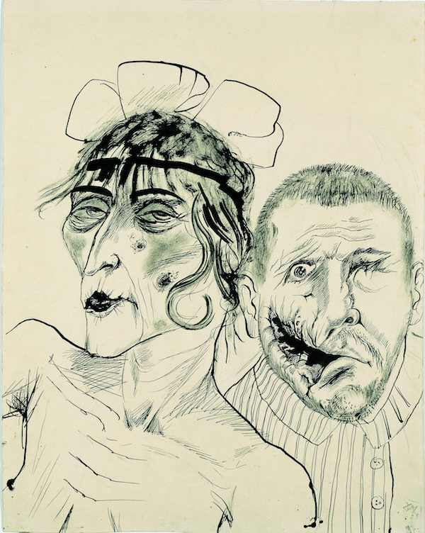 Otto Dix, Prostitute and Disabled War Veteran. Two Victims of Capitalism, 1923 © Estate of Otto Dix