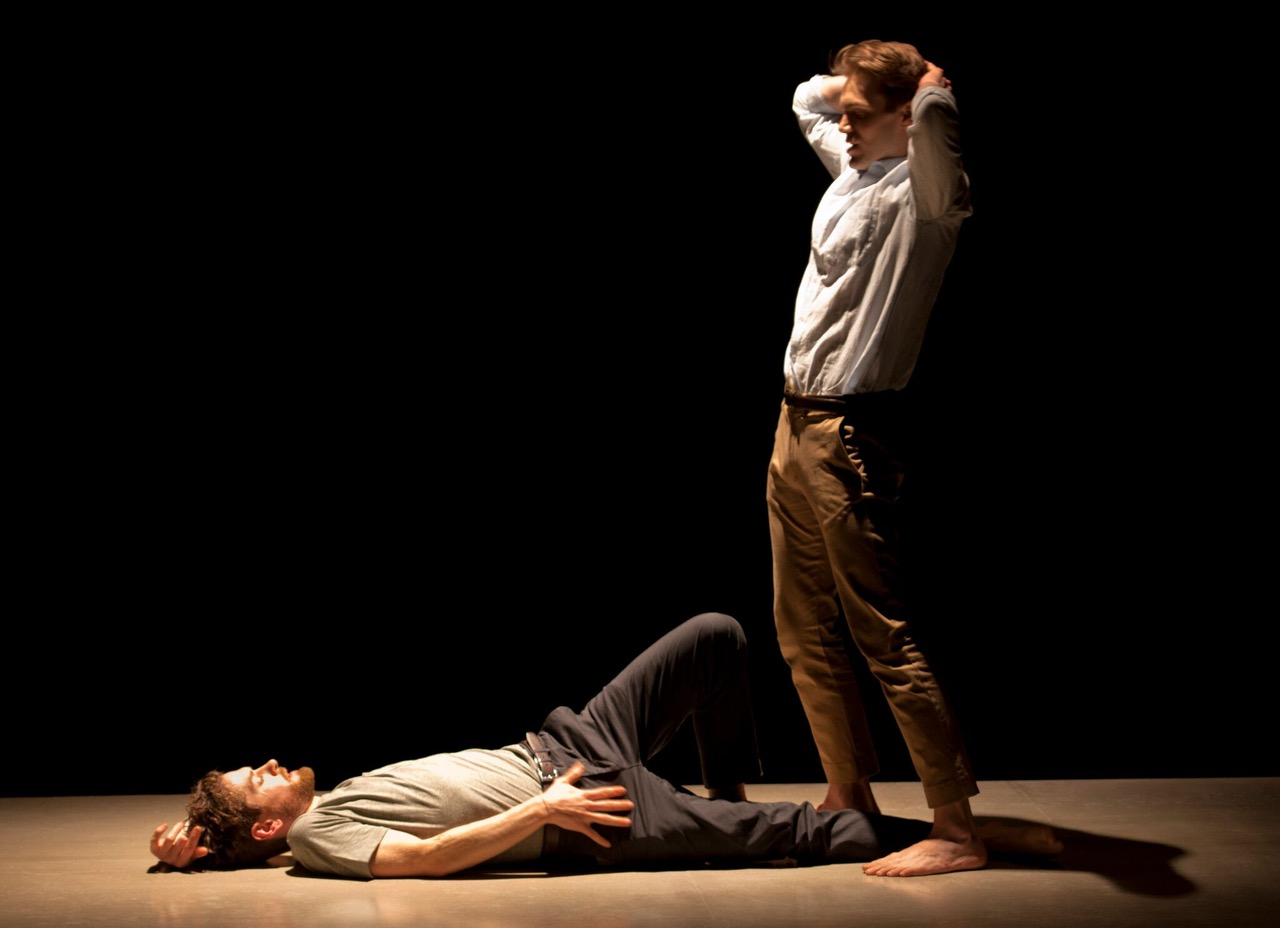 Andrew Burnap and Kyle Soller in The Inheritance at the Young Vic