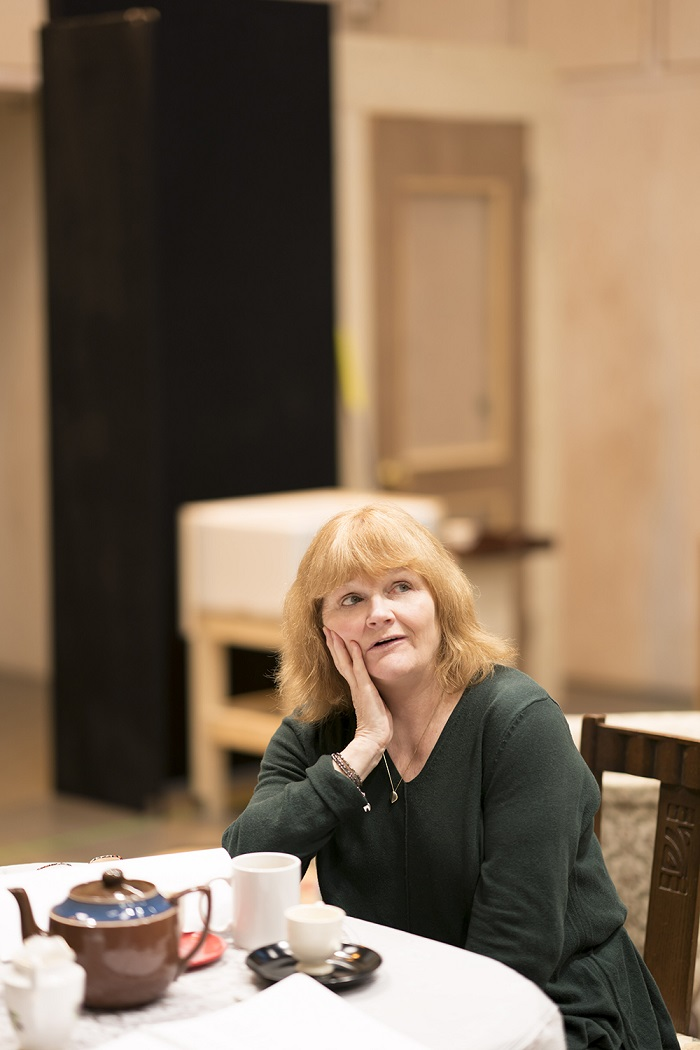 Lesley Nicol in rehearsal for The York Realist at Donmar Warehouse