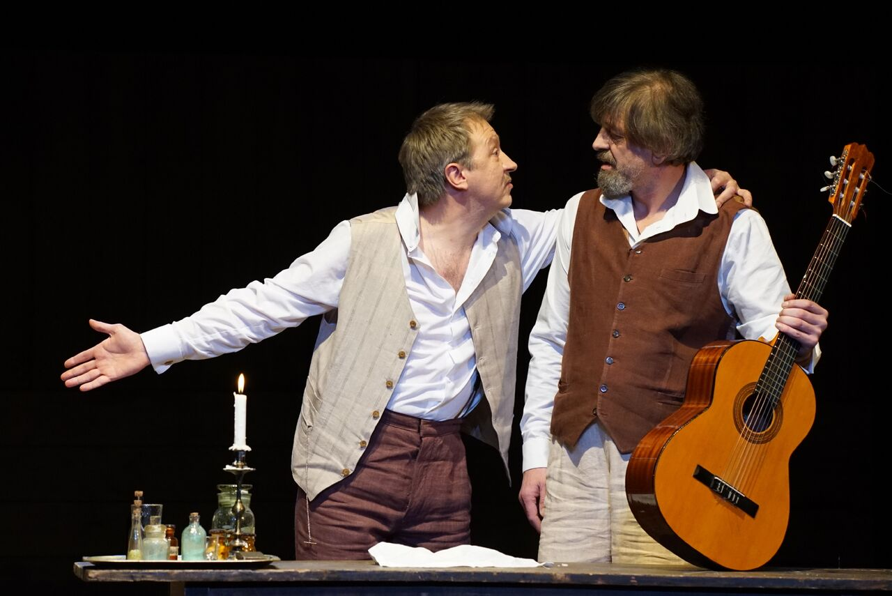 Igor Chernevich and Sergei Kuryshev in 'Uncle Vanya'