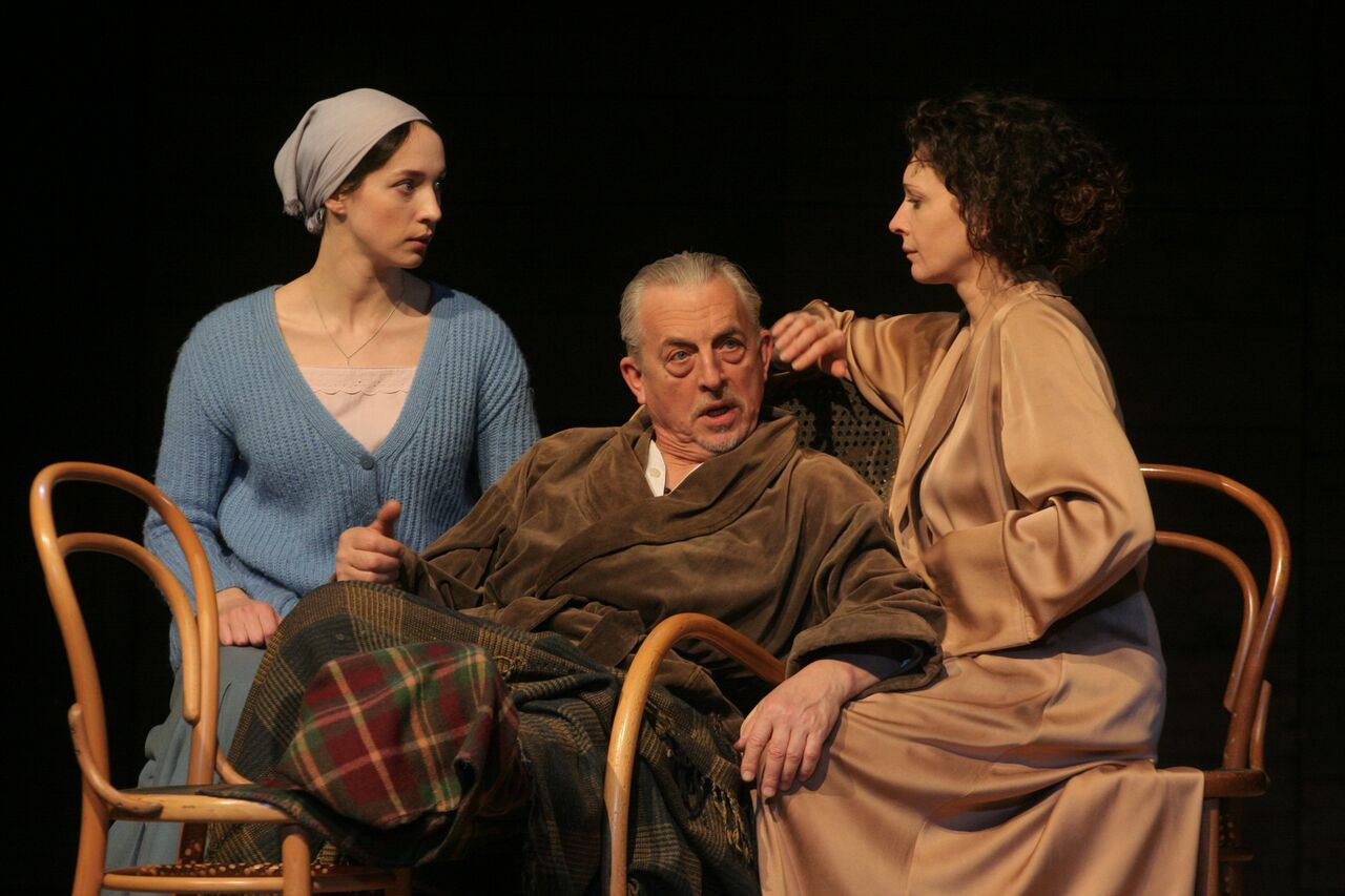 Ekaterina Tarasova, Igor Ivanov and Ksenia Rappoport in 'Uncle Vanya'