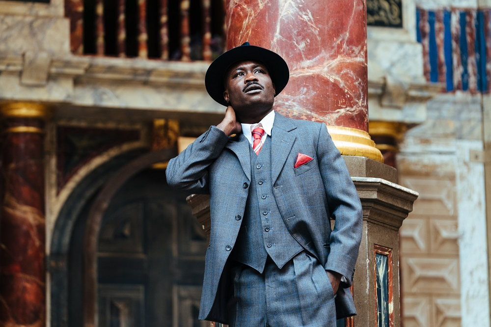 Jude Okwuso as Ford in Globe Merry Wives of Windsor