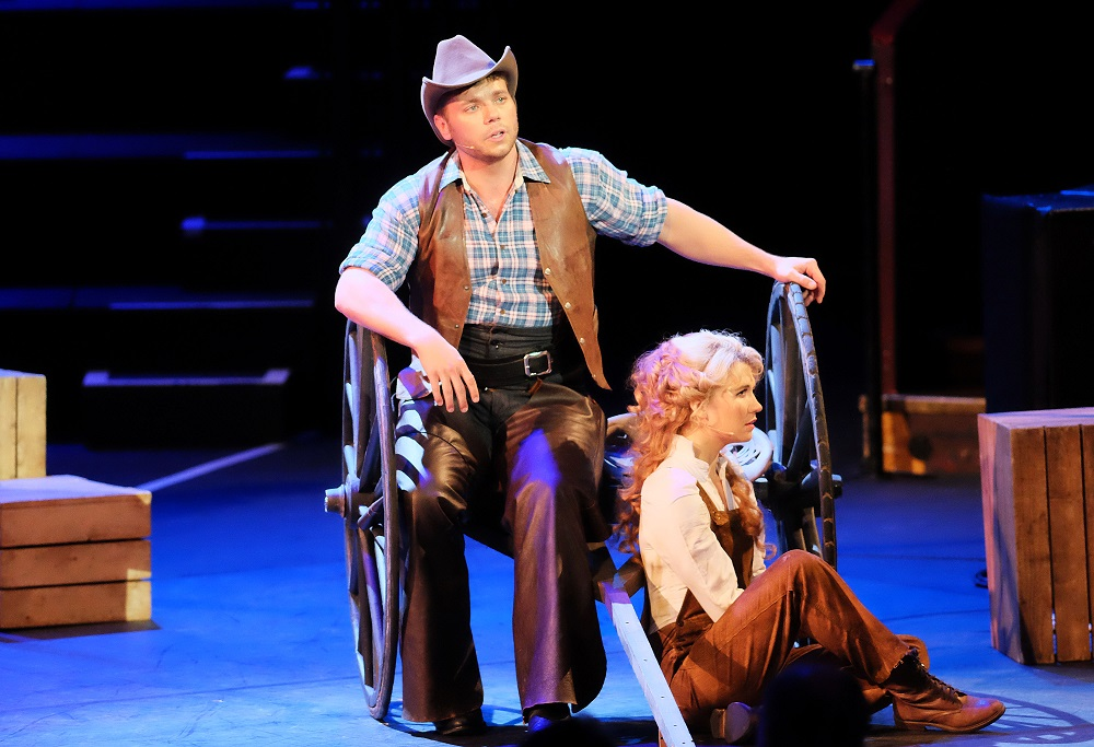 Nathaniel Hackmann and Scarlett Strallen in Proms Oklahoma!