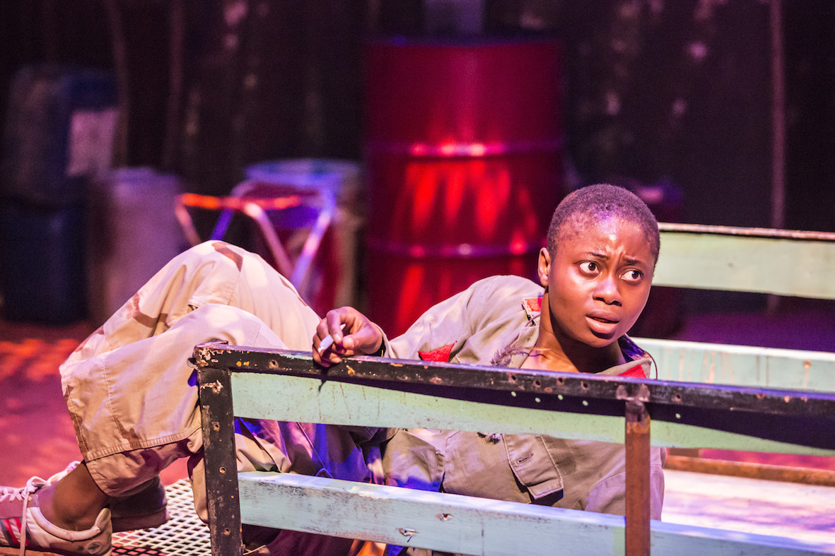 Juma Sharkah in Liberian Girl at the Royal Court. Photo: Johan Persson