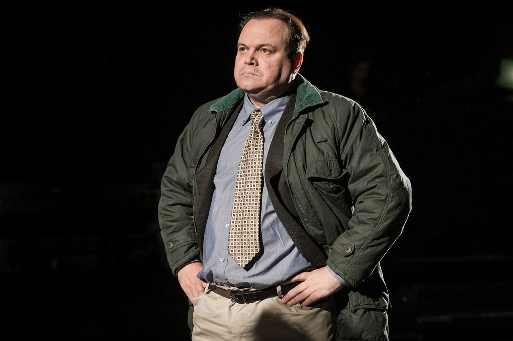 Shaun Williamson in Farragut North at Southwark Playhouse © Robert Workman