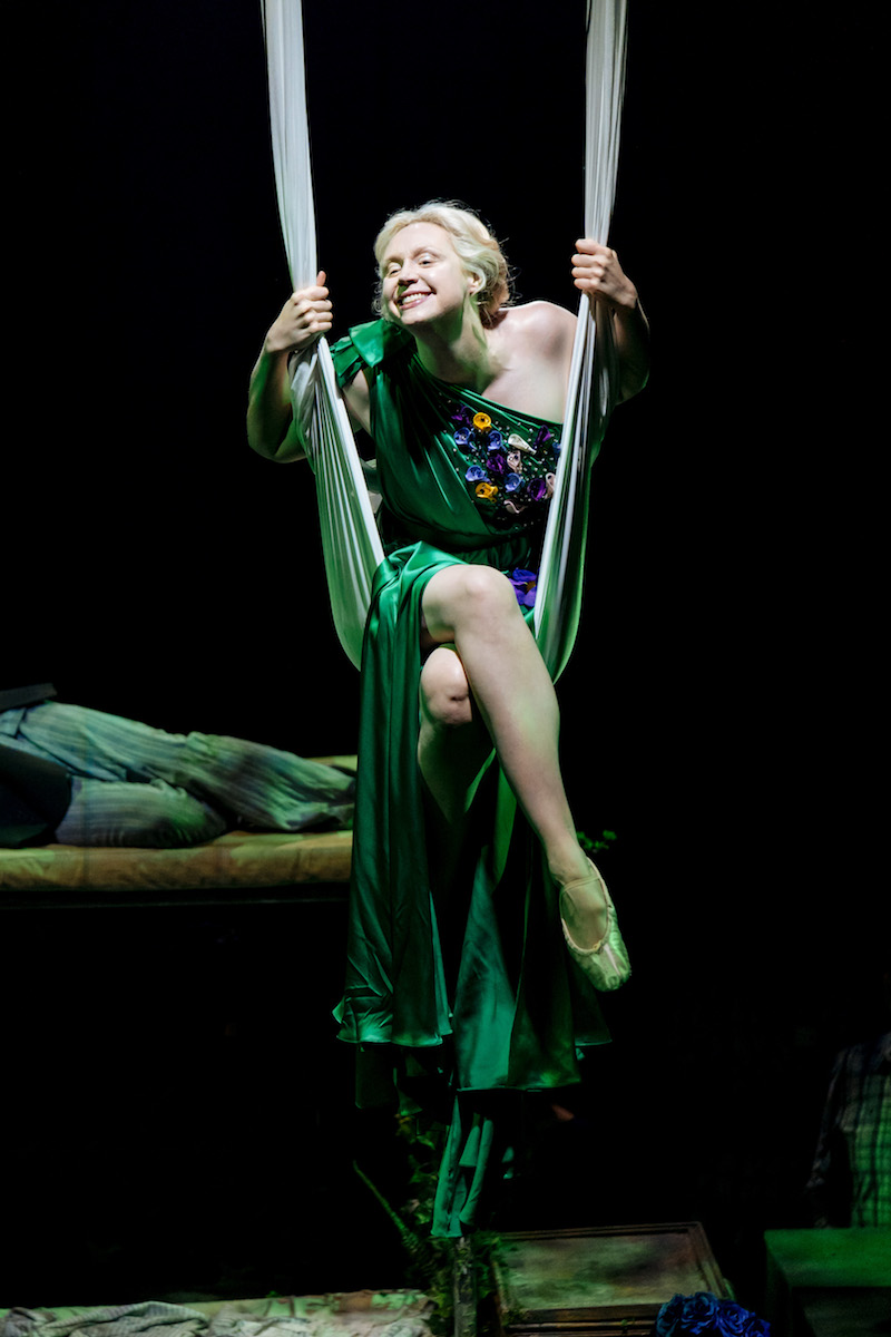 Gwendoline Christie in A Midsummer Night's Dream at the Bridge Theatre