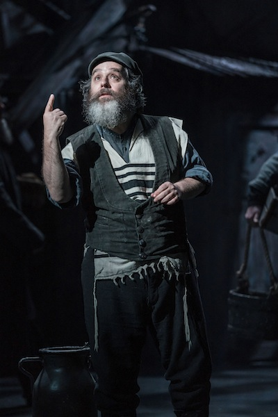 Like a bearded, more generously proportioned Hamlet: Andy Nyman as Tevye