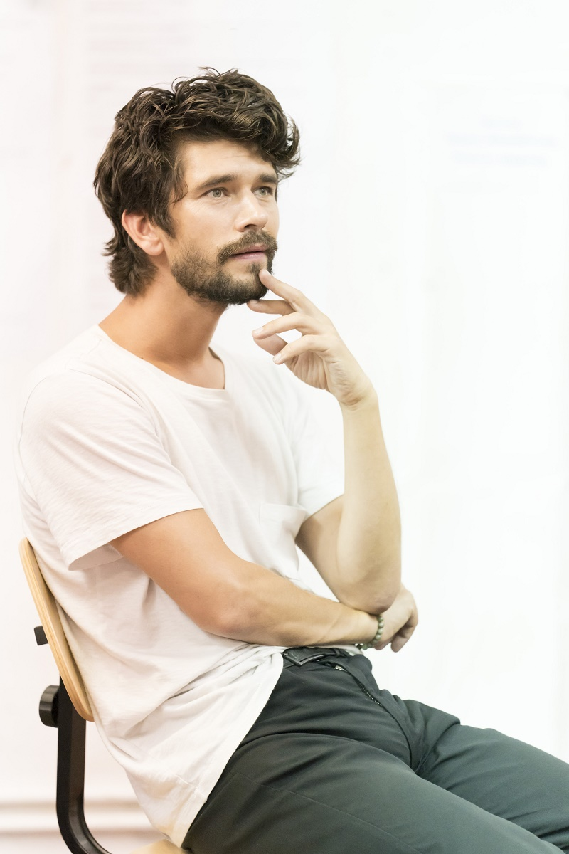 Ben Whishaw in rehearsal for Against at Almeida Theatre