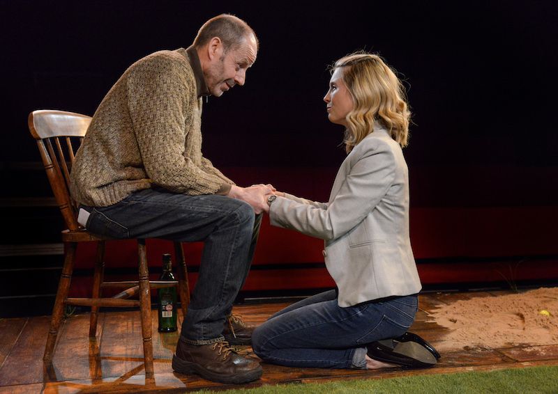 Sean Jackson and Yolanda Kettle in Eden at the Hampstead Theatre Downstairs