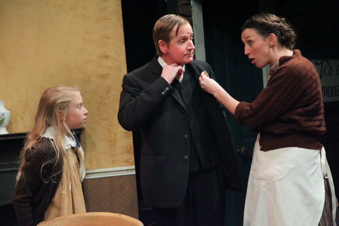 "Lucy Shaw, Matthew Cottle and Victoria Gee in ""Luck of War"""