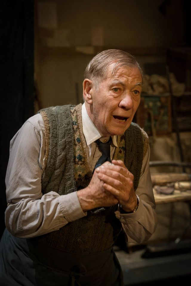 Ian McKellen as Norman in The Dresser on BBC Two