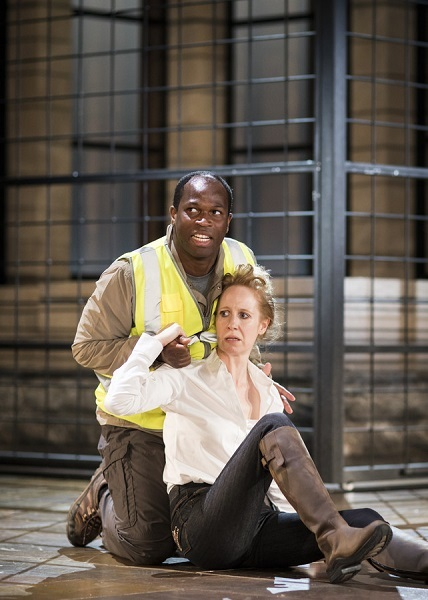 Stefan Adegbola as Aaron in Titus Andronicus, RSC