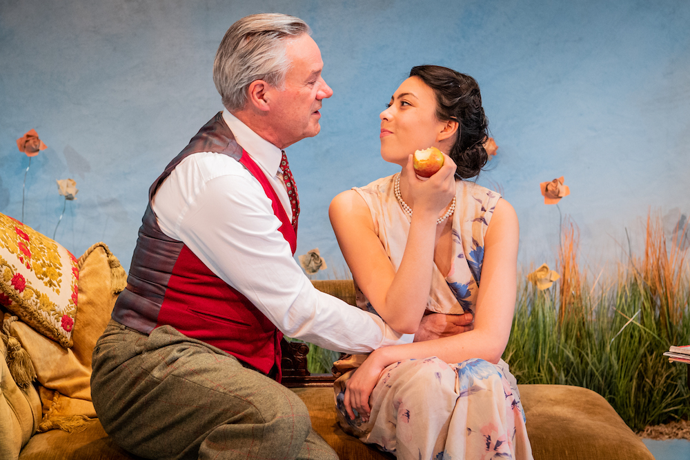 Michael Lumsden and Sally Cheng in For Services Rendered at the Jermyn Street Theatre