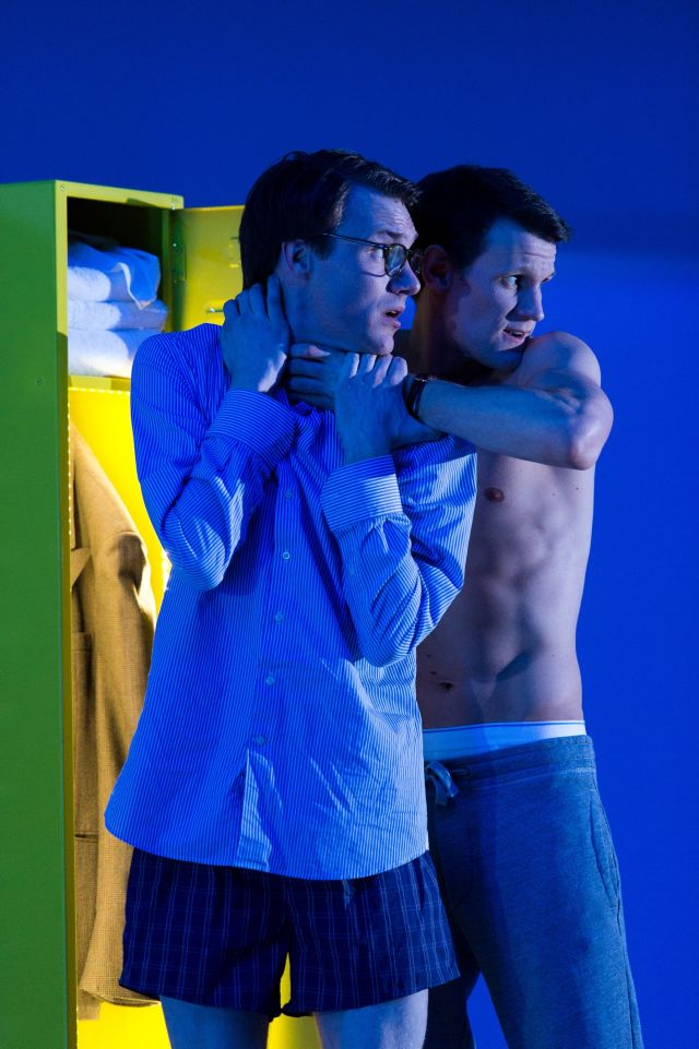 Hugh Skinner and Matt Smith in American Psycho